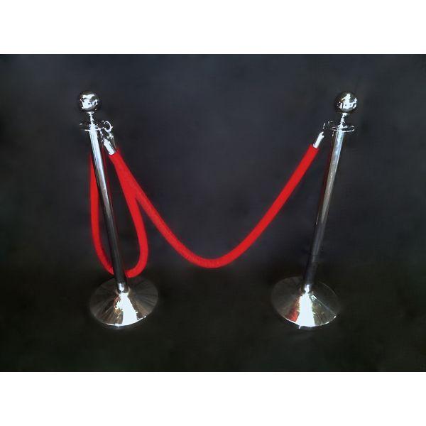 Catenaria plateada cordón rojo