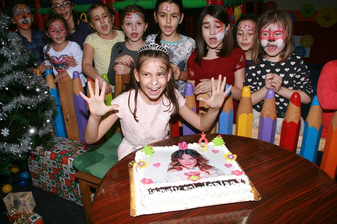 Seguridad infantil en una fiesta de cumpleaños